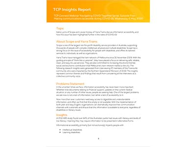 TCP Insights Report - Scope & Yarra Trams