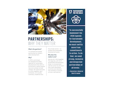 Partnerships: Why They Matter. UN Sustainable Development Goals