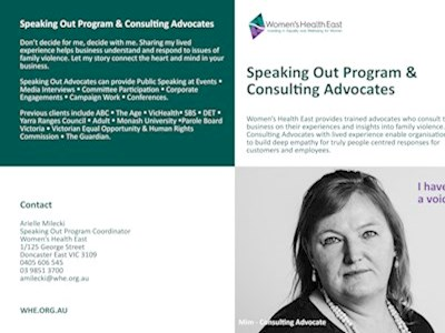 Speaking Out Program & Consulting Advocates