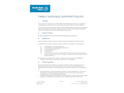Family Violence Support Policy