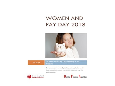 Women and Pay Day Lending  2018