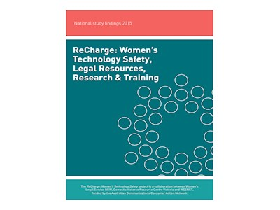 ReCharge: Women's Technology Safety, Legal Resources, Research & Training. National study findings 2015